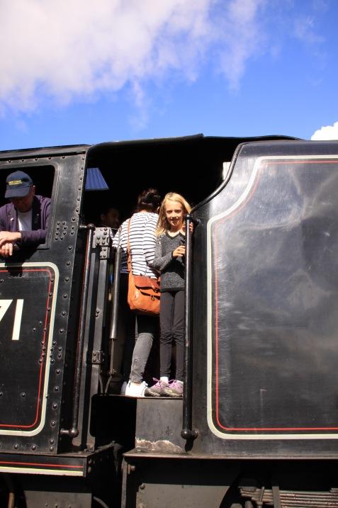 Kristina on the Harry Potter train!